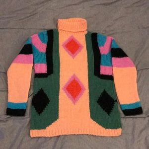 Sport Whirl Vintage Wool Turtleneck Sweater Small